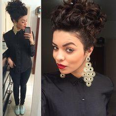 Nathalie Barros, cabelo cacheado