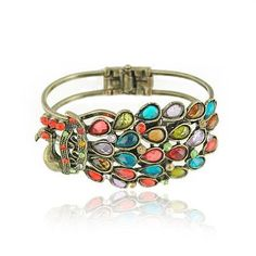 Peacock Bracelet - ADORE!!! someone please buy me this! ;-)