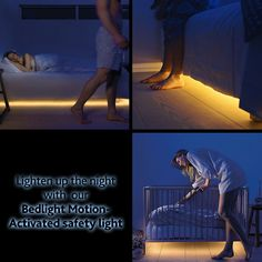The Bedlight Motion Activated LED Safety Lights make night trips out of bed much safer, automatically. Don't switch on the overhead light when you get out of bed at night! The Bedlight Motion Activated LED Safety Lights are professional-design style lights that illuminate the floor when they sense movement.