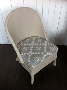 Mick Sheridan Upholstery: LLoyd Loom chairs and ottomans in Welsh wool
