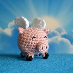 Try and catch this amusing and cute flying pig! Find out how you can crochet your own flying pig.