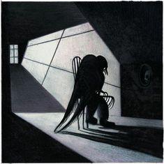 The Raven: Lou Reed's Adaptation of Edgar Allan Poe, Illustrated by Italian Artist Lorenzo Mattotti | Brain Pickings