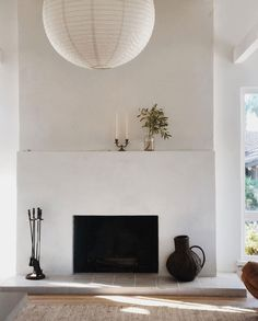 Home Interior Company .Home Interior Company Stucco Fireplace, Concrete Fireplace, Home Fireplace, Fireplace Surrounds, Fireplace Design, Simple Fireplace, Modern Fireplace Decor, Brick Fireplaces, Minimalist Decor