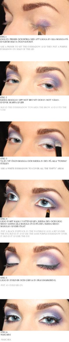 How to, step by step tutorial for lilac make up