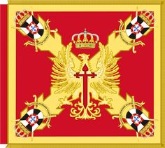 Archivo:Guidon of Ceuta General Command. Mystery Of History, Flags, Medieval, Spanish, Colours, Country, Knights, Cards, Military