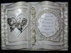 "Beautiful Handmade ""Butterfly"" Wedding Book Card https://www.facebook.com/HandmadeKeepsakeRagDolls"