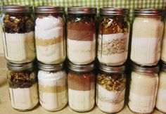 Chef Tess Evil-Genius 7 Holiday Cookie Mixes in One - - Delicious Holiday Cookie in a Jar recipes that you can make as gifts, decorations, or just to store as a quick cookie mix. These recipes are Shelf Stable for years sealed in a Mason Jar. Homemade Dry Mixes, Homemade Gifts, Mason Jar Mixes, Mason Jars, Canning Jars, Jar Gifts, Food Gifts, Gift Jars, Food Storage