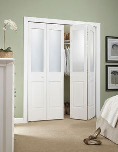 Bi-fold closet doors, a must in a house, these slide doors have got to go