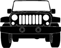 Jeep silhouette illustration