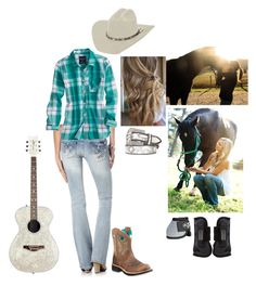 """""""Cowgirl up"""" by country-princess-7 ❤ liked on Polyvore featuring American Eagle Outfitters, Ariat, Miss Me, women's clothing, women, female, woman, misses and juniors"""