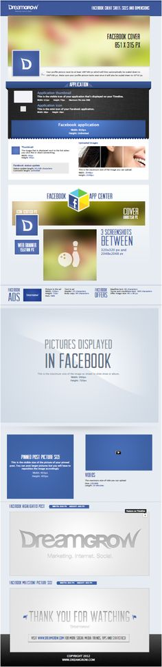 Facebook Sizes and Dimensions of all photo opportunities.