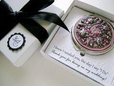 Caja de regalo de Dama de honor con Gracias por por CrystalFiligree