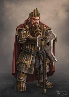 m Dwarf Baron Noble Cape Battle Axe Grzegorz Wlazło