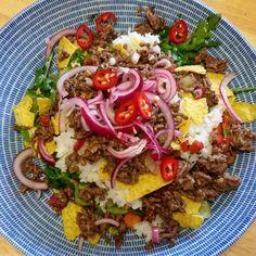 Tex-mex salaatti Cooking Recipes, Healthy Recipes, Healthy Foods, Tex Mex, Food Inspiration, Cobb Salad, Love Food, Recipies, Food And Drink