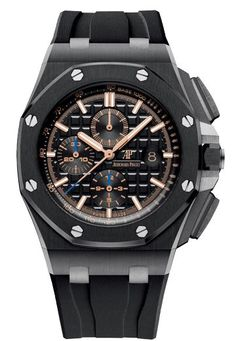 View this item and discover similar for sale at - Audemars Piguet Royal Oak Offshore Chronograph Men's Watch - Automatic chronograph. Brushed finished black ceramic case & bezel with polished Audemars Piguet Price, Audemars Piguet Diver, Audemars Piguet Watches, Audemars Piguet Royal Oak, Patek Philippe, Tag Heuer, Men's Accessories, Devon, Cartier