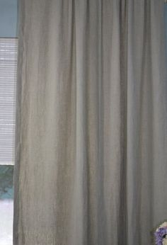 NEW Lower Price! Linen Curtain Panel, Unlined, 100% European Linen, natural, custom-made drapery panel, Shabby Chic, Country French, Beach