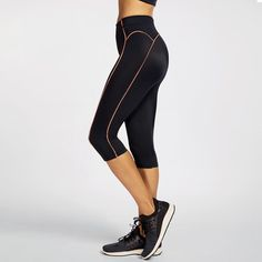 Fashion Fitness Leisurewear Running Active Sports Yoga Pants Leggings – Activa Star Women's Sports Leggings, Gym Leggings, Capri Leggings, Workout Leggings, Workout Pants, Leggings Are Not Pants, Fitness Fashion, Yoga Pants, Tights
