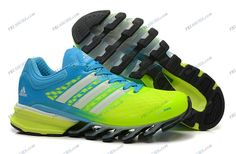 Adidas 2014 Springblade II Green Sky Blue Women's Running shoes outlet adidas