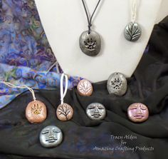 A Push in the Right Direction with AMAZING Remelt... DIY polymer clay push molds by designer Tracy Alden. www.moldputty.com