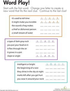 Printables Spelling And Vocabulary Worksheets words spelling and vocabulary worksheets on pinterest third grade word play worksheet