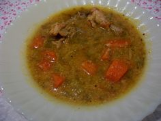 Quanta Gordice: Sopa Frango com Legumes e Flocos de Milho.