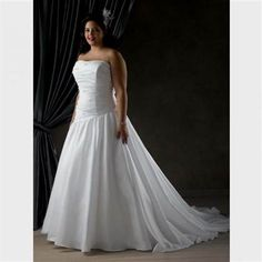 Nice simple white plus size wedding dresses 2018