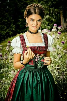 The Dress, Fancy Dress, Pleated Mini Skirt, Mini Skirts, Loose Updo, Dirndl Dress, Girls Dresses, Flower Girl Dresses, German Fashion
