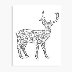 'Art Design Deer Silhouette ' Metal Print by Framed Prints, Canvas Prints, Art Prints, Dog Mask, Deer Silhouette, Floor Pillows, Cleaning Wipes, Buy Art, Moose Art