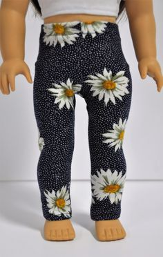 Daisy print baby polka dot leggings by CircleCSewing on Etsy. Made from the…