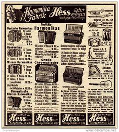 Original-Werbung / Anzeige 1938 - MUSIKINSTRUMENTE HESS / KLINGENTHAL - ca. 90 x 100 mm