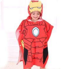 Poncho enfant Iron Man