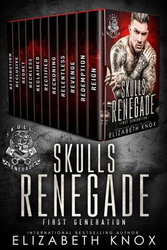 Skulls Renegade MC: First Generation: The Complete Series Books To Read, My Books, Paranormal Romance Books, I Love Reading, Relentless, Book Authors, Lettering Design, Great Books, Bestselling Author