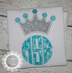 Girl's Crown Monogram Applique shirt - Frozen Birthday Shirt - Princess Monogram by SouthernPrepBoutique on Etsy https://www.etsy.com/listing/224376453/girls-crown-monogram-applique-shirt