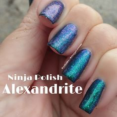 """Ninja Polish """"Alexandrite"""" from the Facets colelction"""