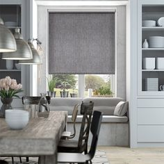9 Luminous Cool Tips: Fabric Blinds Living Room grey bedroom blinds.Where To Buy Bamboo Blinds window blinds dark.Roll Up Blinds Love. Grey Roman Blinds, Grey Roller Blinds, Roman Shades, Roller Shades, Duck Egg Blue Roman Blinds, House Blinds, Blinds For Windows, Window Blinds, Privacy Blinds