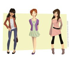 Character Design, Illustration and Concept Art by Kenneth Anderson: Girls