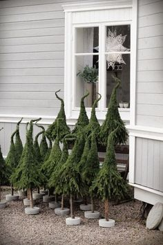 Dekoration Weihnachten - easy Xmas trees w/ extra branches of pine trees. Noel Christmas, Rustic Christmas, Christmas Projects, Winter Christmas, All Things Christmas, Christmas Tree Ornaments, Xmas Trees, Magical Christmas, Grinch Trees
