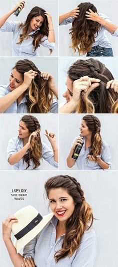 Best Summer Hairstyles - Side Braid Waves - Easy And Beautiful Short Hairstyles And Easy Summer Hairstyles That Are Cute And Work Great For Medium Hair, Long Hair, Short Hair, And Very Short Hair. Hairstyles, Undo's, Braids, And Ponytail Looks To Keep You Cool This Summer. Great Step By Step Tutorials And Tricks For Teens And Quick And Cute Looks For Brunettes With Shoulder Length Hair. Great Summer Hairstyles For The Beach, For Any Color, And Special Hacks For No Heat Boho Looks That Are…