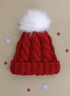 Kit bonnet de Noël à torsades à tricoter, Bergère de France Kits, broderie & tricot Achat en ligne