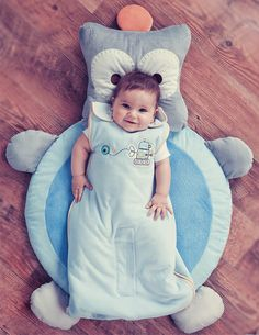 Too cute for words! Robot Playmat and Sleeping Bag from Lolli Living by Living Textiles.