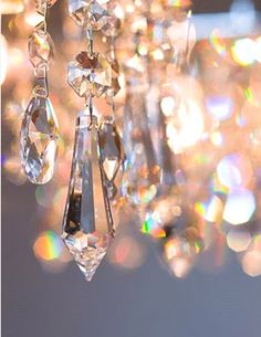 I hang thes in a window that faces south so the can catch both the early morning sun and the sunset and they shower my walls with their rainbows.  Some are teardrops, some are snowflakes but I love the round ones best because the twirl around and chase each other across my walls!