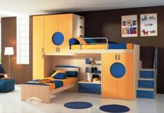 Optional Kids Bunk beds For Your Kids Room Great-and-Cool-Kids-room-design-with-Bunk-Bed-ideas – Home Decor Ideas for Living Room, Dining Room, Bedroom, Bathroom and Furniture Sets Childrens Bunk Beds, Bunk Beds Boys, Cool Bunk Beds, Bunk Beds With Stairs, Kid Beds, Play Beds, Loft Bed Plans, Triple Bunk Beds, Modern Bunk Beds