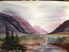 Purple Mountain Majesty in watercolors.
