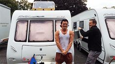 Luke Evans doing the ALS Ice Bucket Challenge (Gif set)