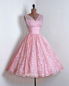 Beautiful Pink Sleeveless Illusion V Neck Ball Dress