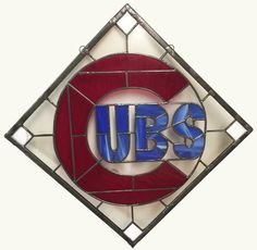 Chicago Cubs Logo  Stained Glass by MarkforExcellence on Etsy