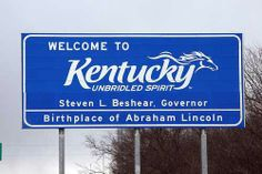 Whenever I see this sign, I get excited! My Old Kentucky Home! :)