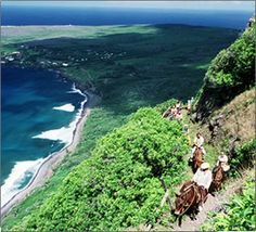 Mule Ride to former Leper Colony in Molokai, Hawaii. I've heard wonderful things about this experience.