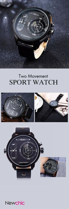 [Newchic Online Shopping] 46% OFF Two Movement Men Sport Watch
