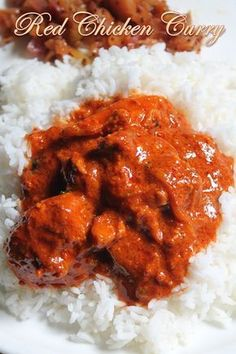 soups recipes YUMMY TUMMY: Spicy Indian Red Chicken Curry Recipe Source by melaniereidofj Indian Chicken Recipes, Indian Food Recipes, Asian Recipes, Simple Chicken Recipe Indian, Spicy Recipes, Easy Healthy Recipes, Cooking Recipes, Spicy Curry Recipe, Simple Recipes